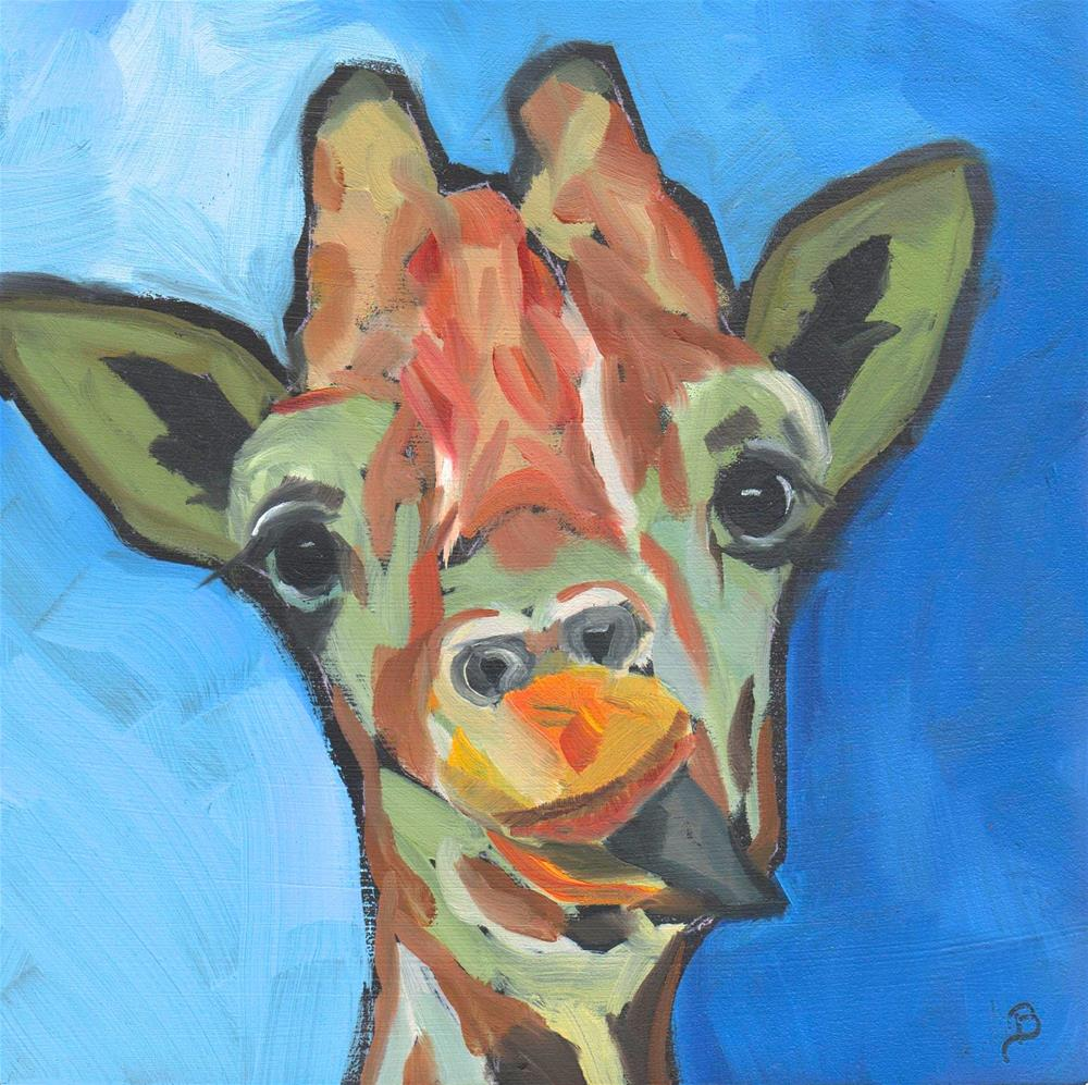 """Goofy Giraffe"" original fine art by Philla Barkhorn"