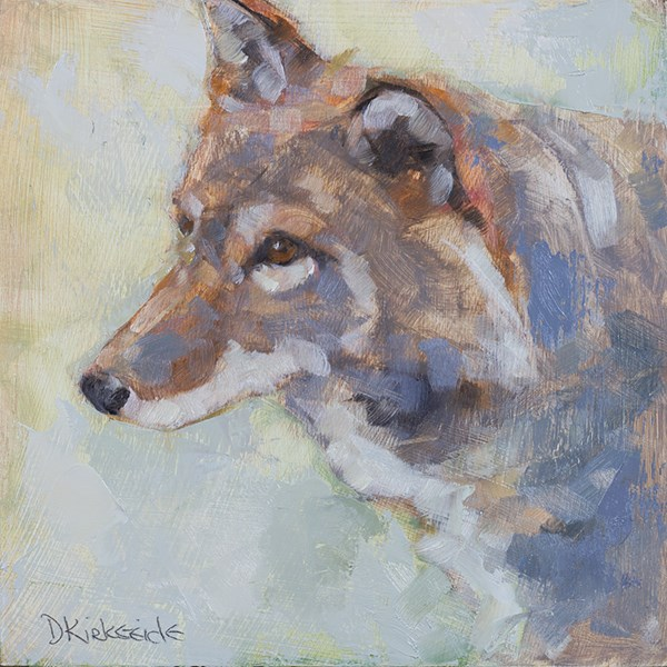 """Song Dog - Coyote Wildlife Painting - MN Artist Deb Kirkeeide"" original fine art by Deb Kirkeeide"
