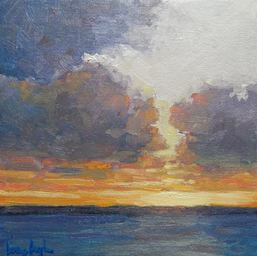 """Ocean Sunset"" original fine art by Lisa Kyle"
