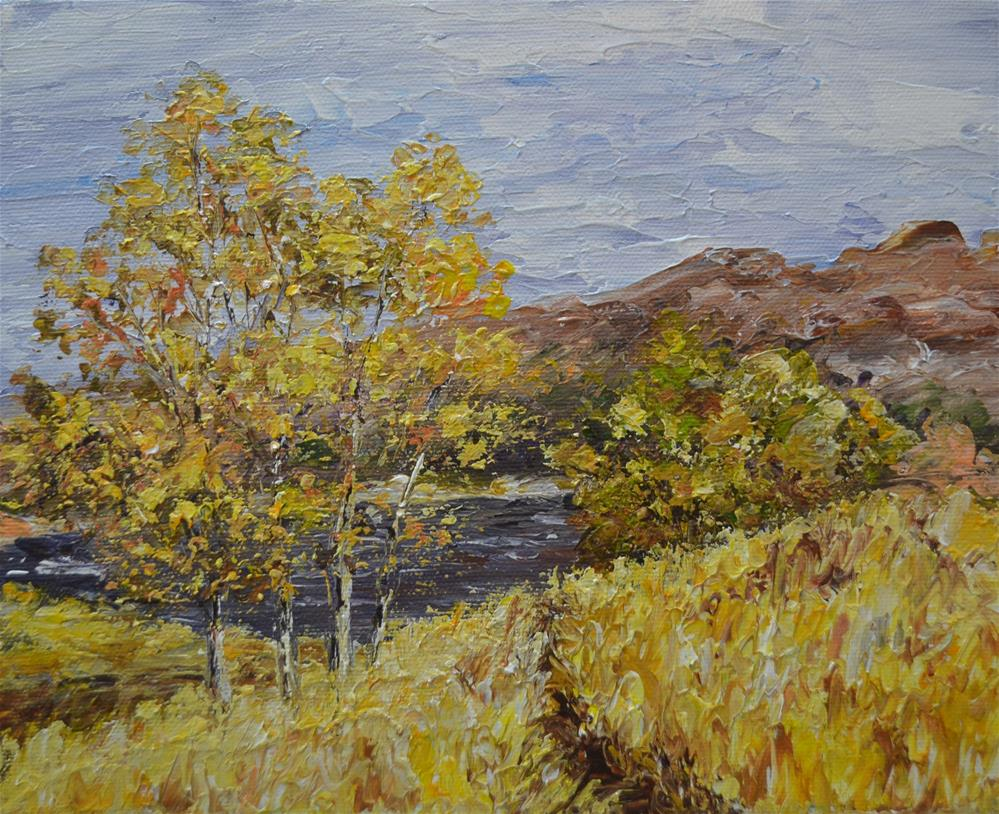 """Derwent Path"" original fine art by Gloria Ester"
