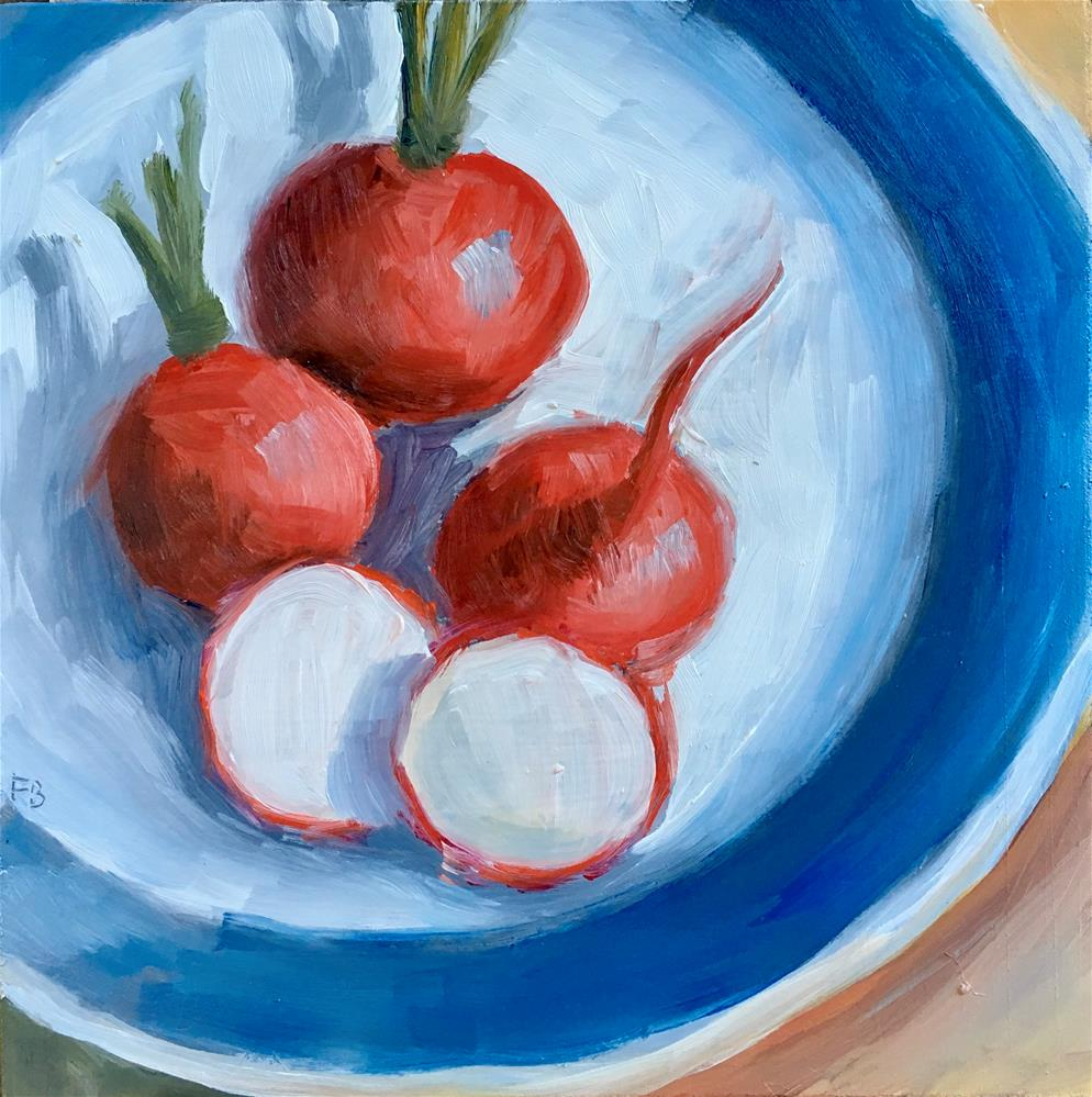 """116 Rosy Radishes "" original fine art by Fred Bell"