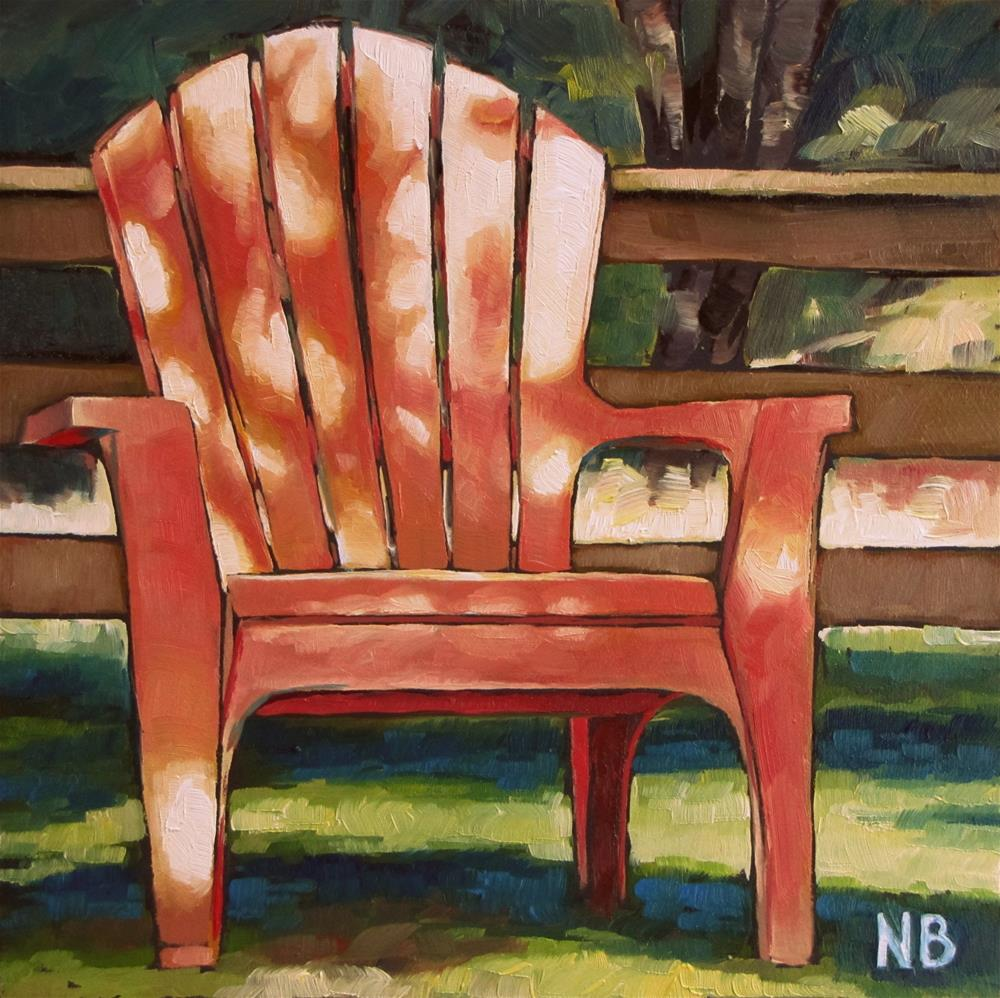 """Plastic Chair"" original fine art by Nora Bergman"