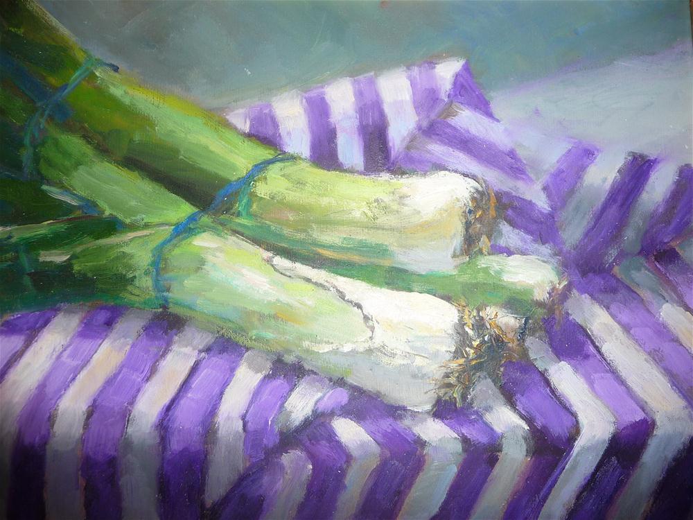 """Leeks"" original fine art by Carol Josefiak"
