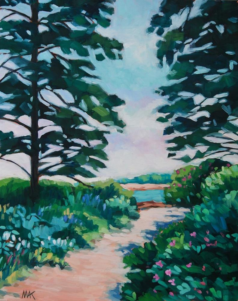 """Beach Path"" original fine art by Mary Anne Cary"