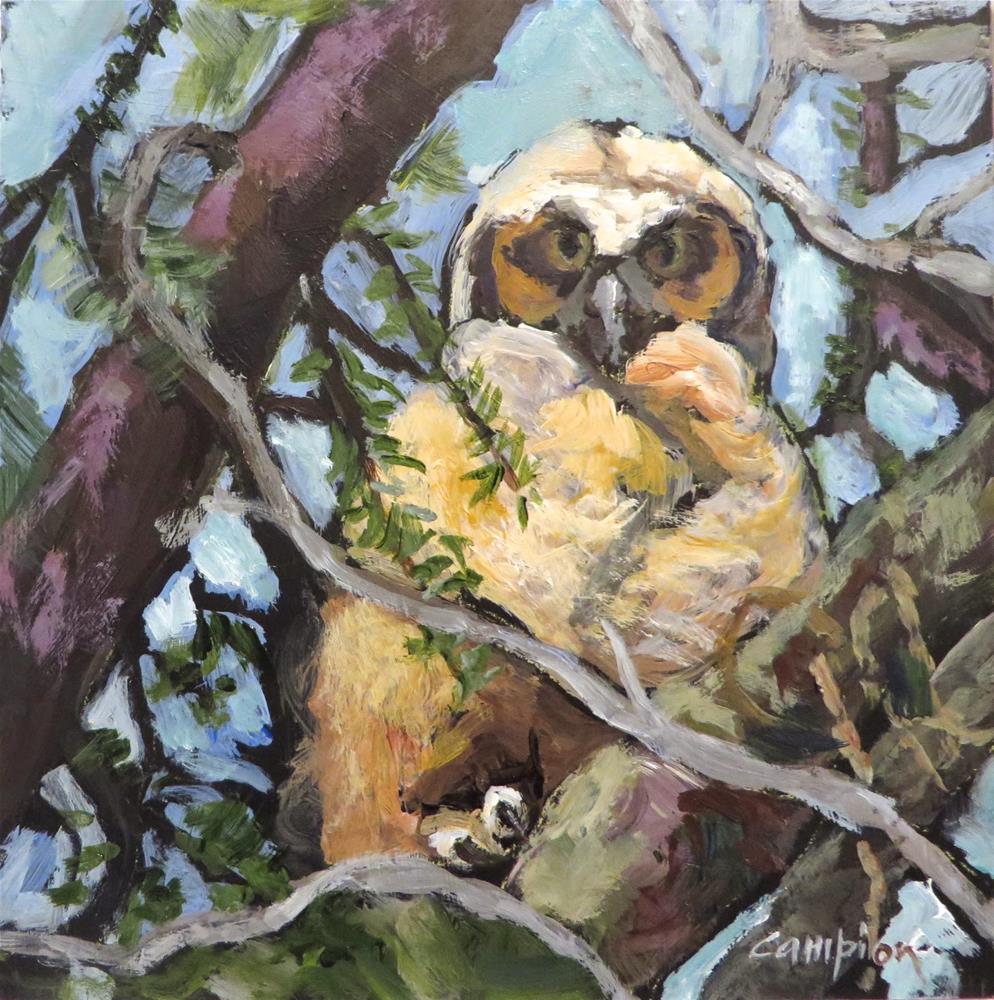 """606 Relocated"" original fine art by Diane Campion"