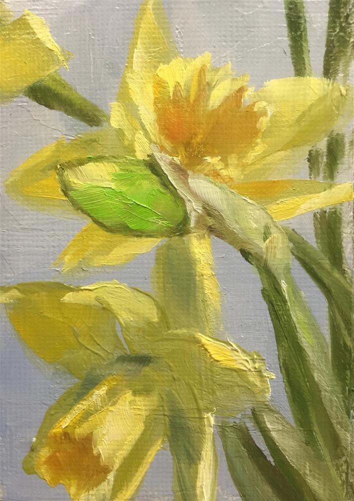 """""""Daffodils"""" original fine art by Gary Bruton"""
