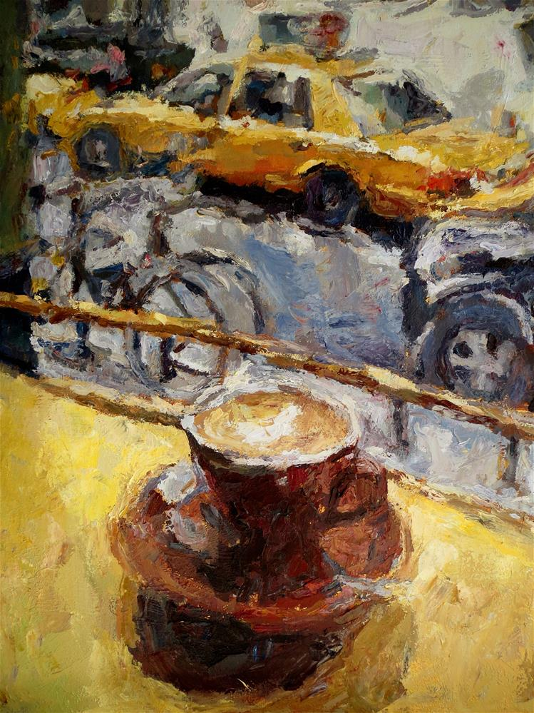 """Coffee Break"" original fine art by Nava Judith"