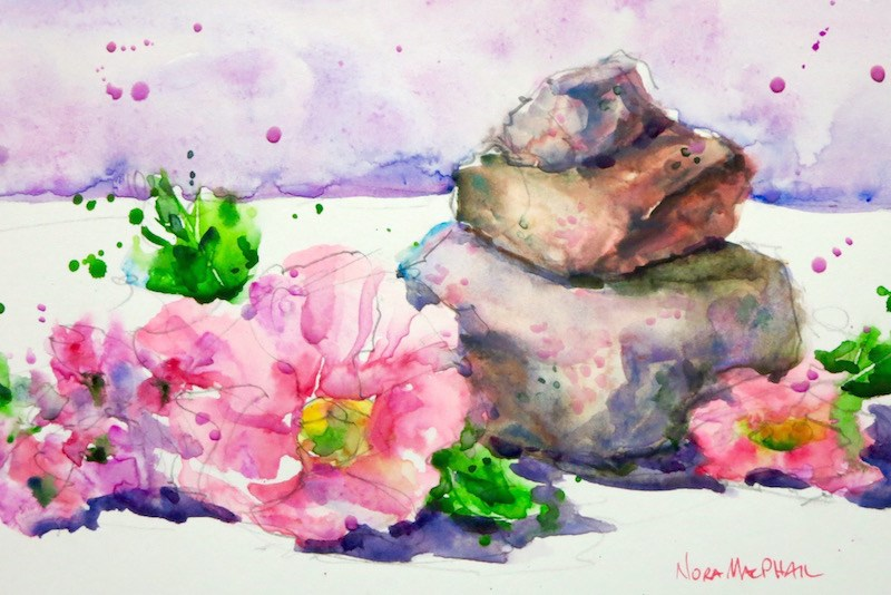 """""""just a stone's throw away"""" original fine art by Nora MacPhail"""