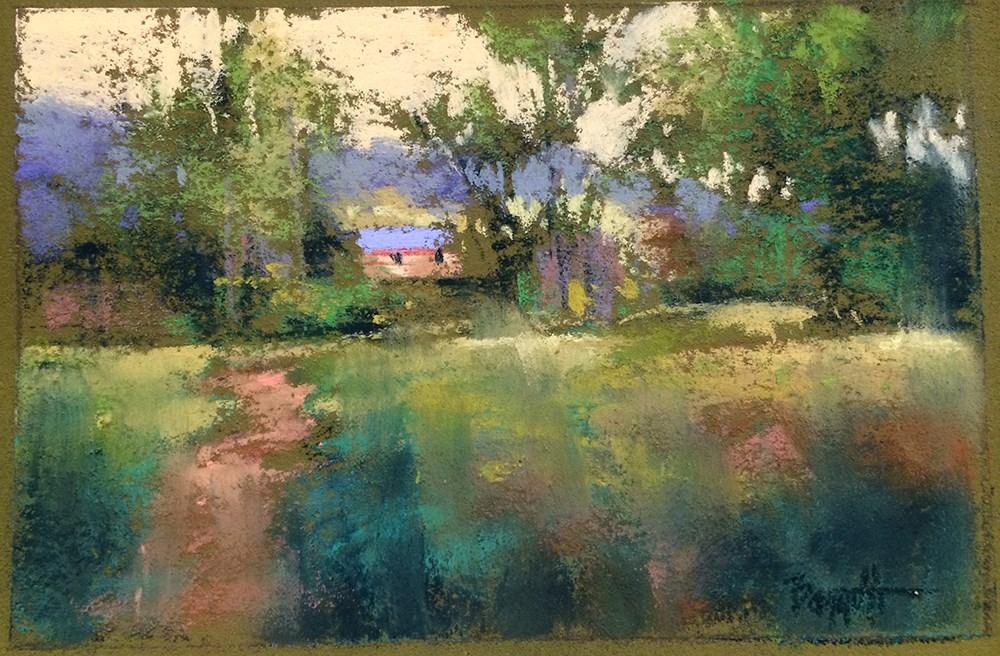 """""""Taos Walkway"""" original fine art by Marla Baggetta"""