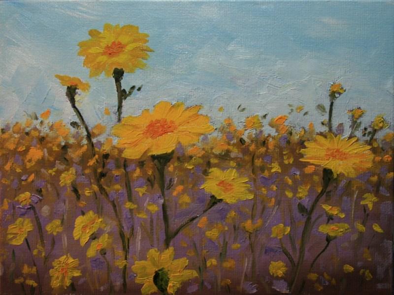 """""""Desert Spring"""" original fine art by Jean Nelson"""