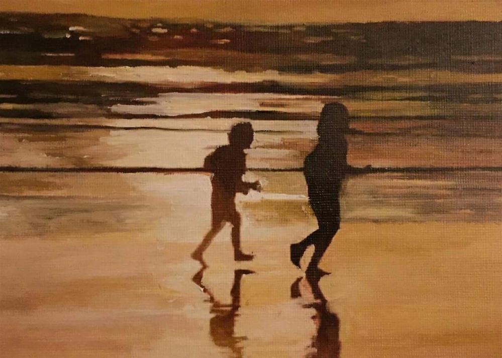 """The Chase"" original fine art by John Cameron"