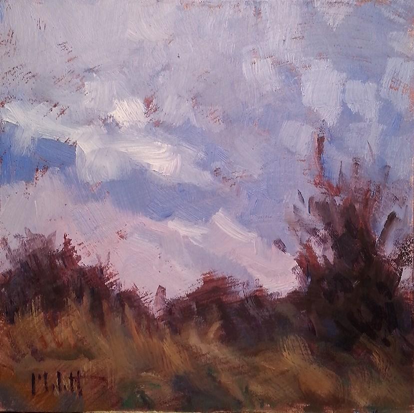 """Plein Air Warm Mocha and Homemade Bread Autumn Landscape Oil Painting"" original fine art by Heidi Malott"