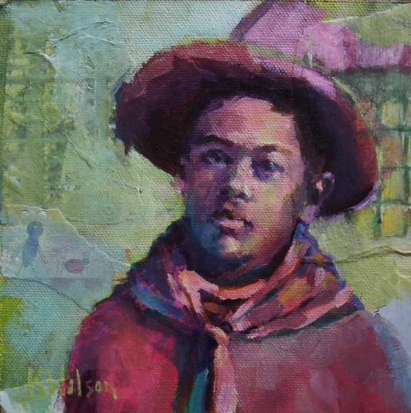 """""""Mesyuhup Cowboy"""" original fine art by Katie Wilson"""