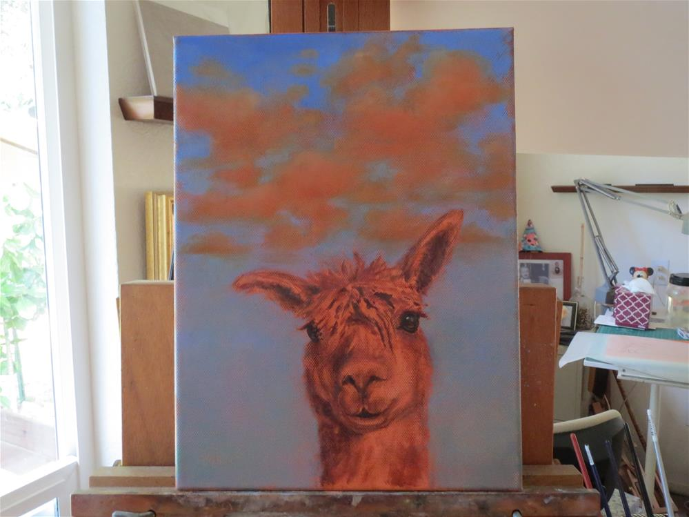"""Llama I"" original fine art by Susanne Billings"