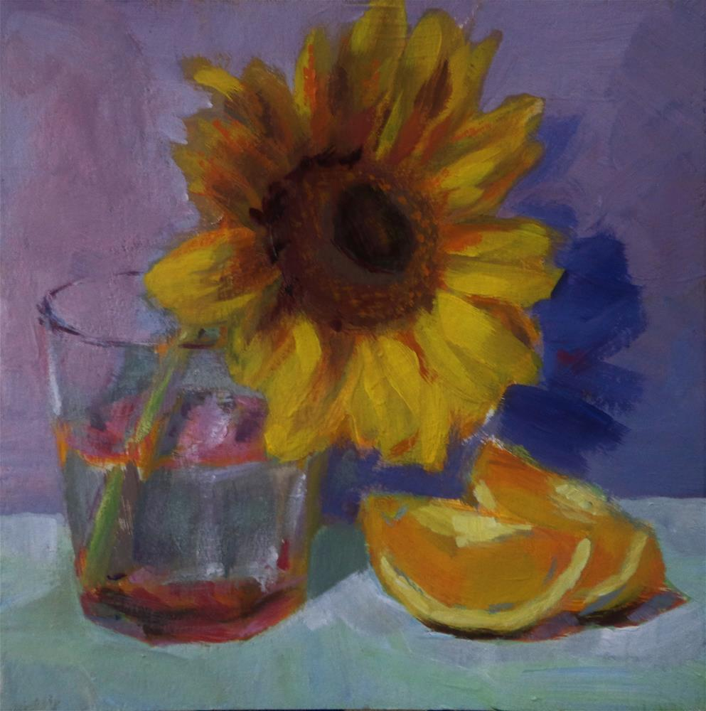 """Sunflower"" original fine art by Maria Z."