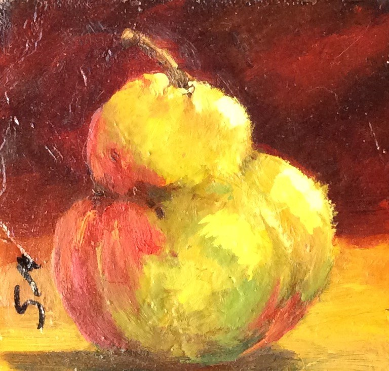 """Pear Still Life"" original fine art by Susie Monzingo"