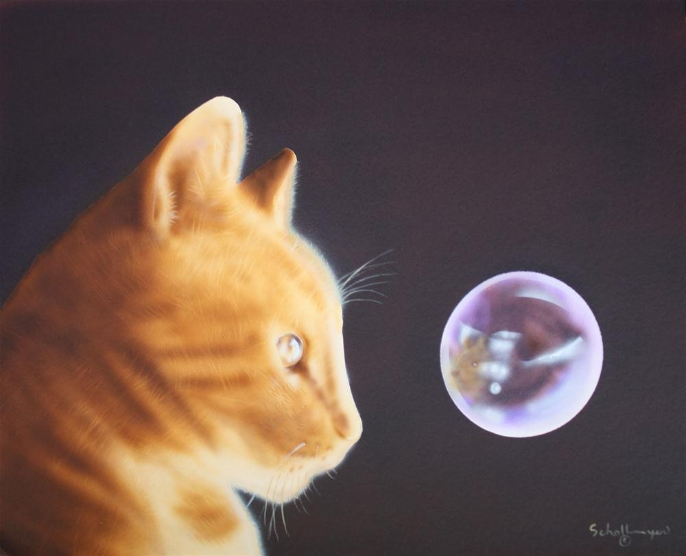 """In the Eye of the Cat"" original fine art by Fred Schollmeyer"