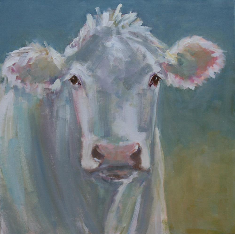 """""""big mad cow"""" original fine art by Carol Carmichael"""