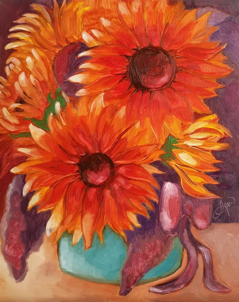 """Sunflower Splash"" original fine art by Leni Tarleton"