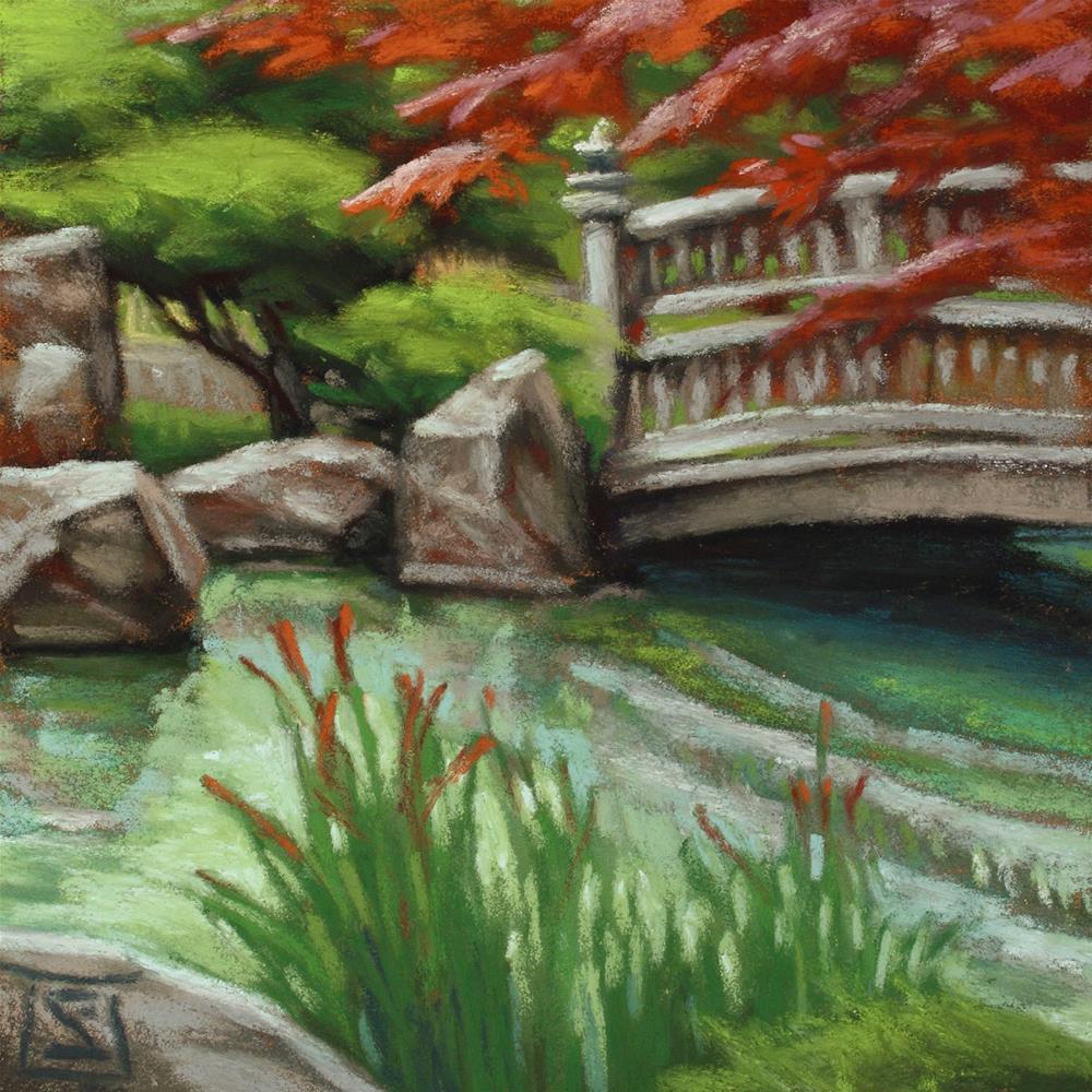 """Nishinomiya"" original fine art by Sheila Evans"
