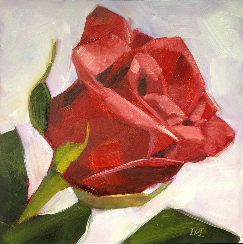 """New Rose"" original fine art by Elizabeth Dawn Johnston"
