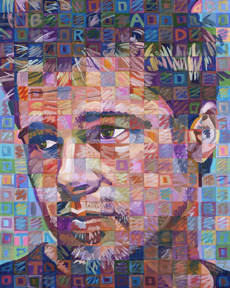 """Brad Pitt"" original fine art by Randal Huiskens"