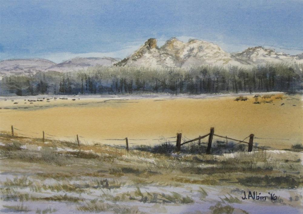 """Nearing Broadus Montana"" original fine art by Jane Albin"
