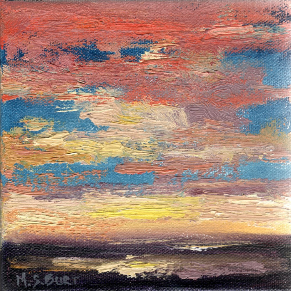 """Laguna Sunset V"" original fine art by Michelle S. Burt"