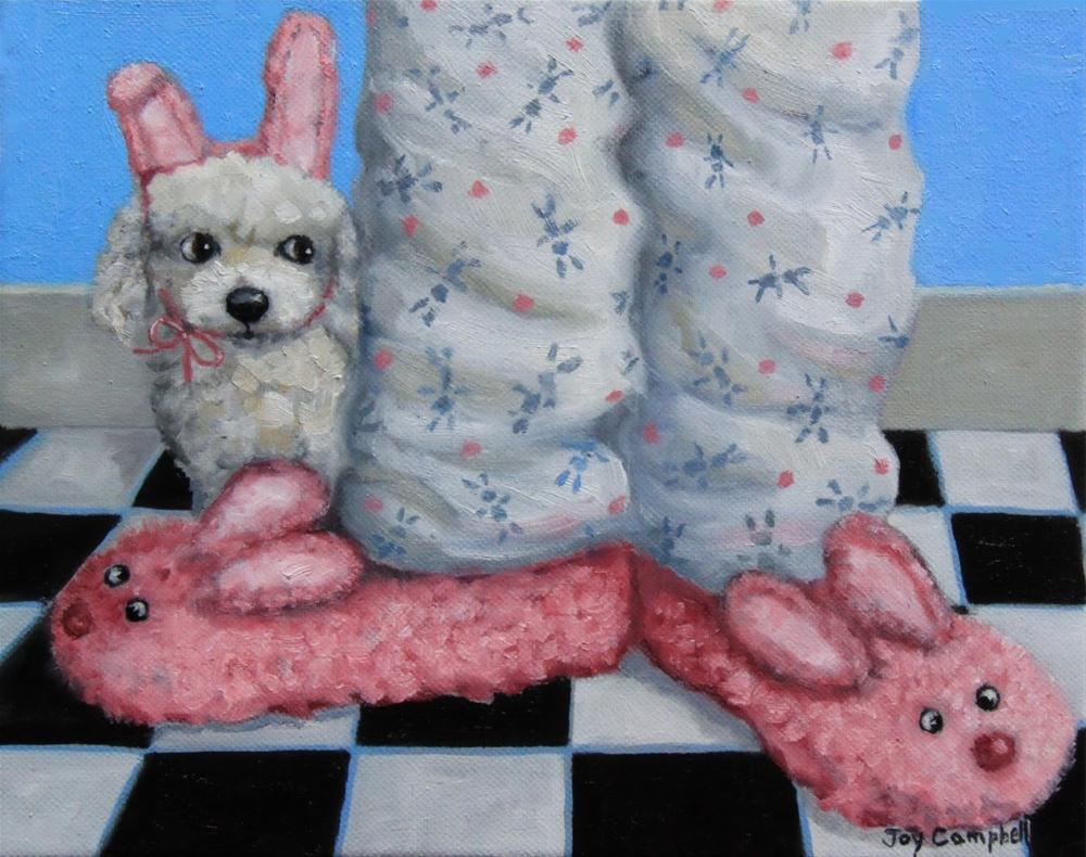 """A Bunny Theme?"" original fine art by Joy Campbell"