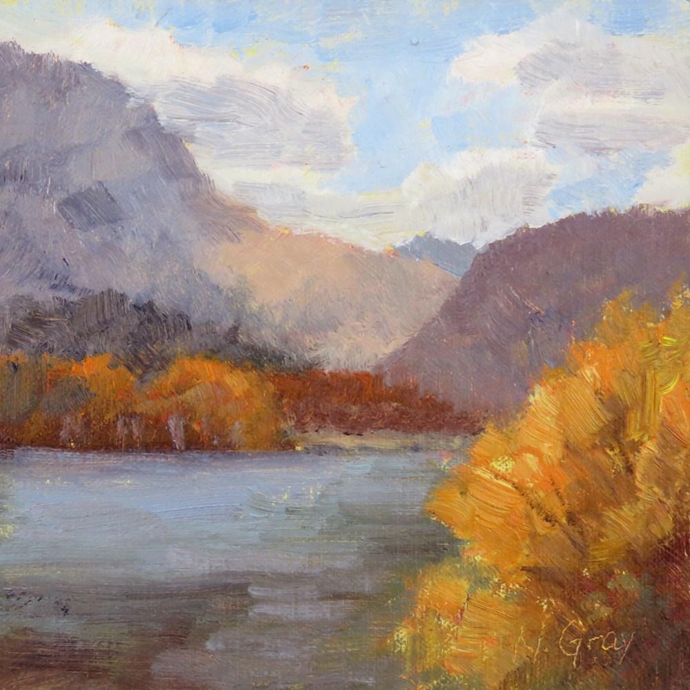 """Gull Lake in September"" original fine art by Naomi Gray"
