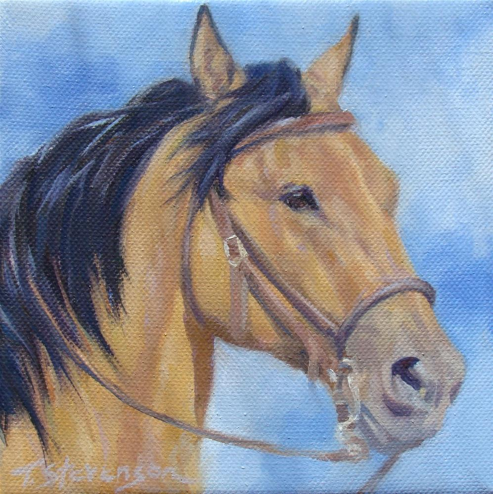 """Heads Up #21"" original fine art by Trish Stevenson"