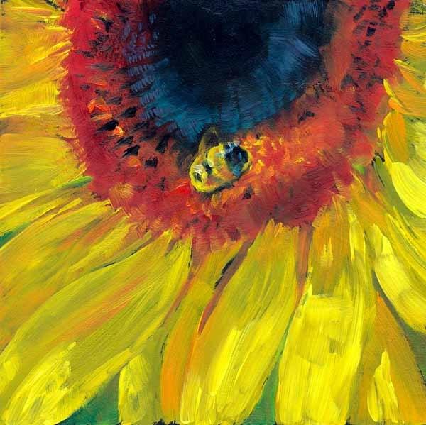 """""""Bee Happy"""" original fine art by Brenda Ferguson"""