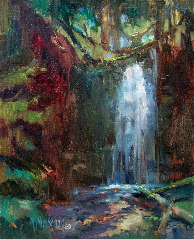 """Shadow Falls Revisited"" original fine art by Mary Maxam"