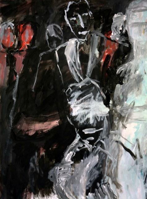 """im Spielcasino /  in playing casino"" original fine art by Mila Plaickner"