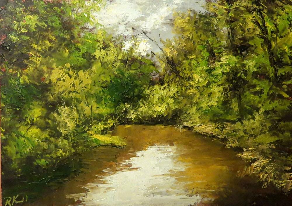 """The Secret Fishing Hole"" original fine art by Bob Kimball"