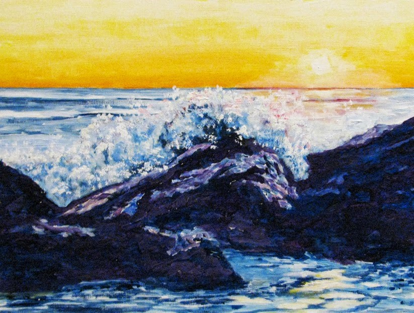 """Ocean Spray"" original fine art by Nan Johnson"