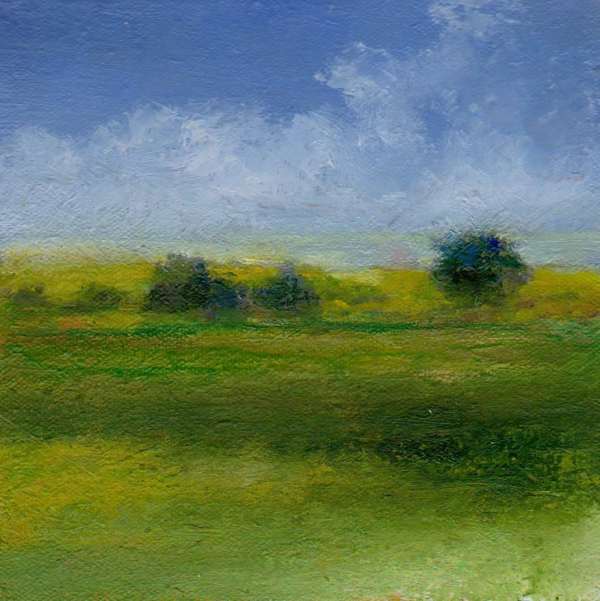"""end of summer"" original fine art by V. DeBak"