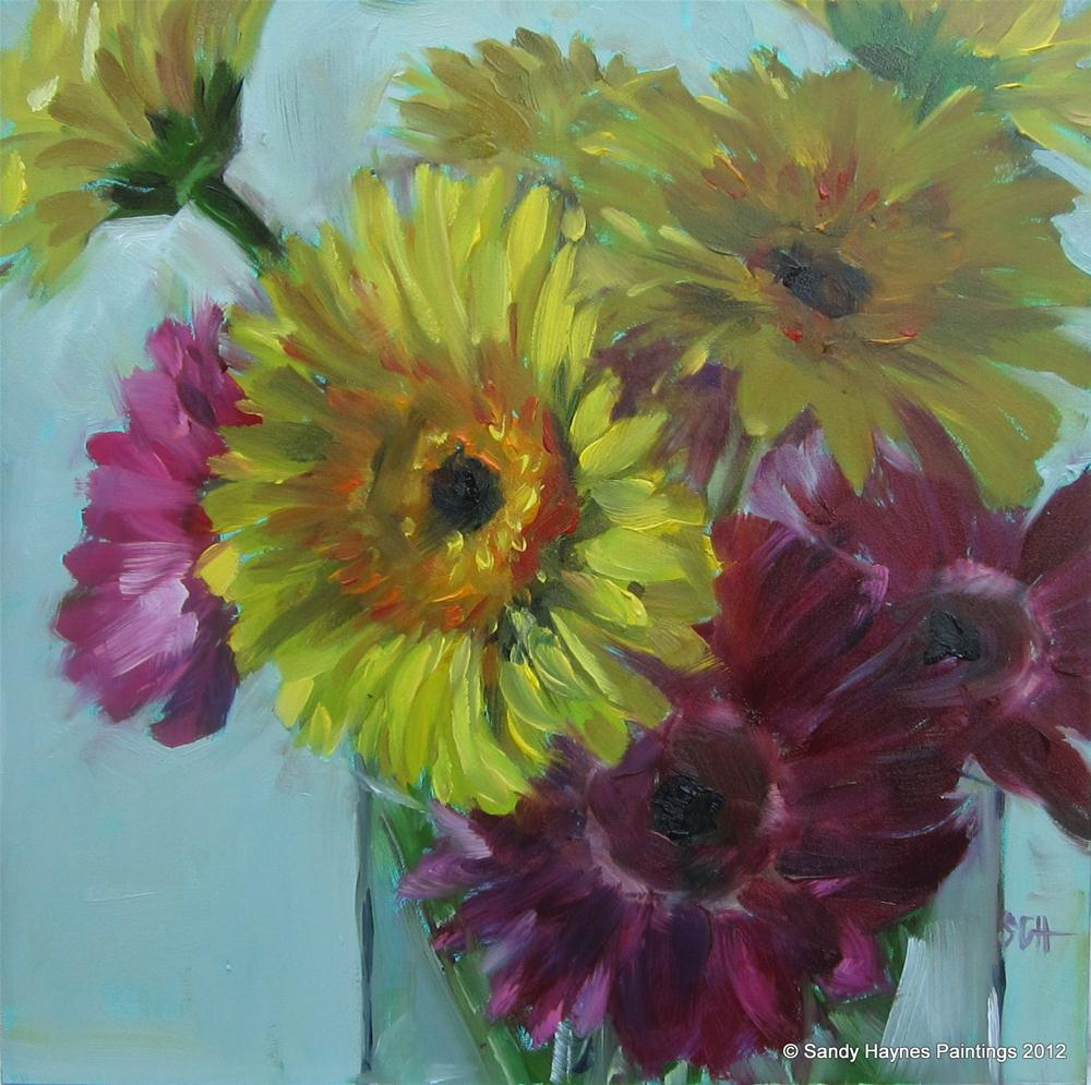 """Gerbera mix"" original fine art by Sandy Haynes"