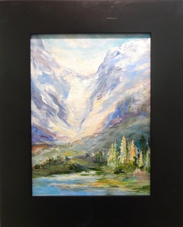 """4133 - Glacial Lake - Black Frame"" original fine art by Sea Dean"