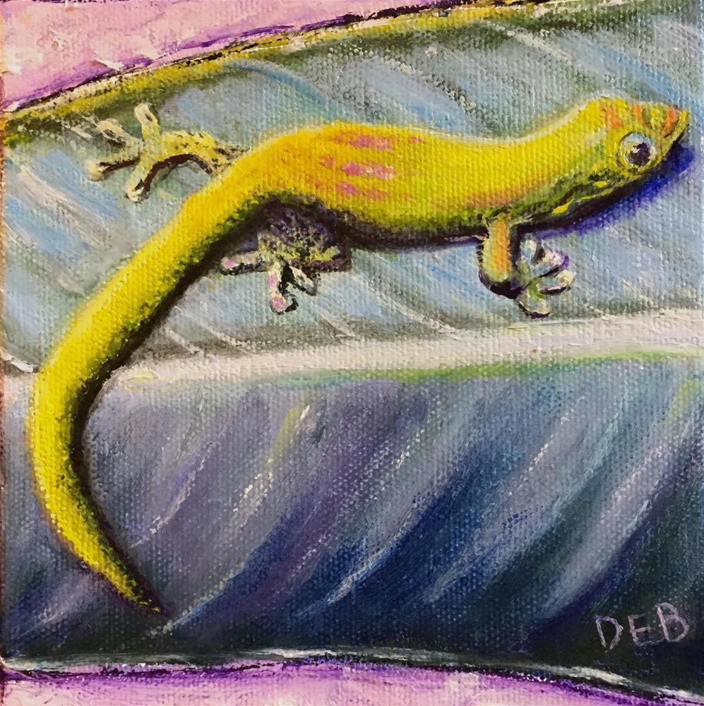 """""""Maui Gecko"""" original fine art by Debbie Yacenda"""