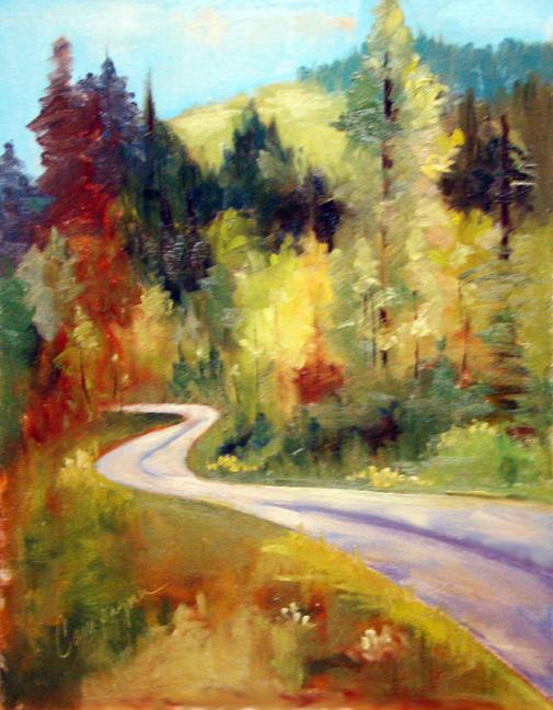 """German Landscape 1"" original fine art by Roseanne Campagna"