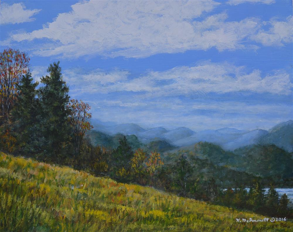 """BLUE RIDGE IMPRESSION (C) 2016 by K. McDermott"" original fine art by Kathleen McDermott"