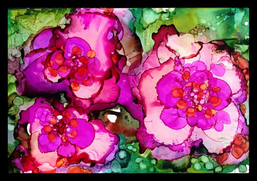 """Double Begonias"" original fine art by Kelly Alge"