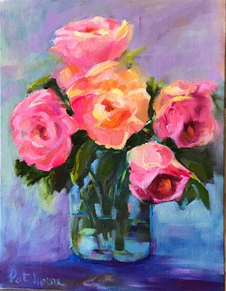 """Roses"" original fine art by Pat Macri"