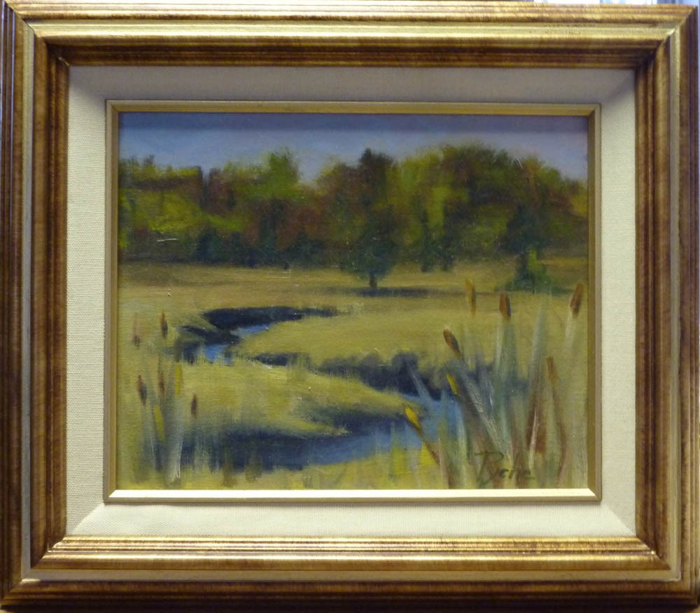 """Newman Marsh High Tide"" original fine art by Mary Pyche"