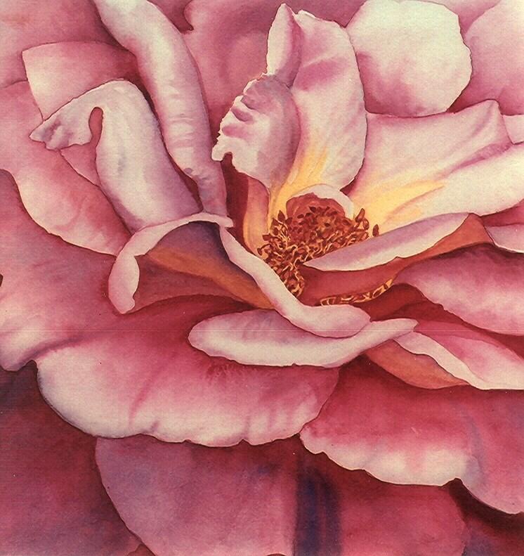 """""""A Rose Says it Best"""" original fine art by carolyn watson"""