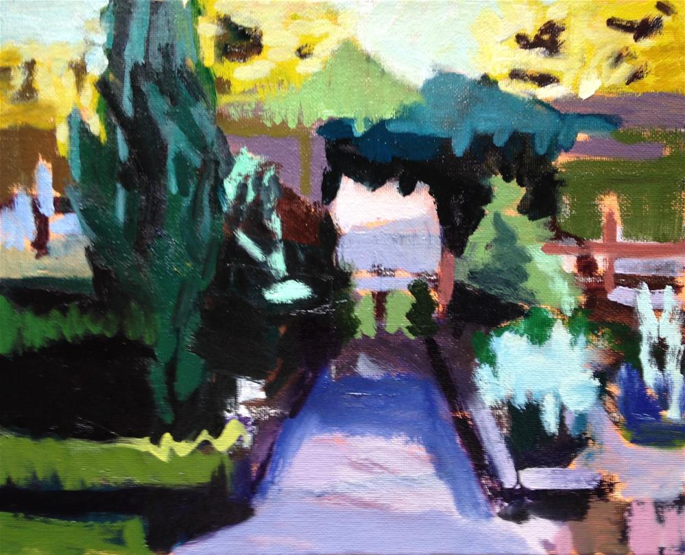 """View From the Porch"" original fine art by Pamela Hoffmeister"