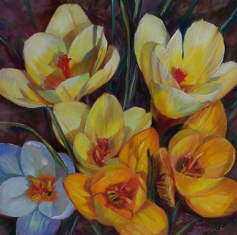 """Crocus"" original fine art by Donna Munsch"