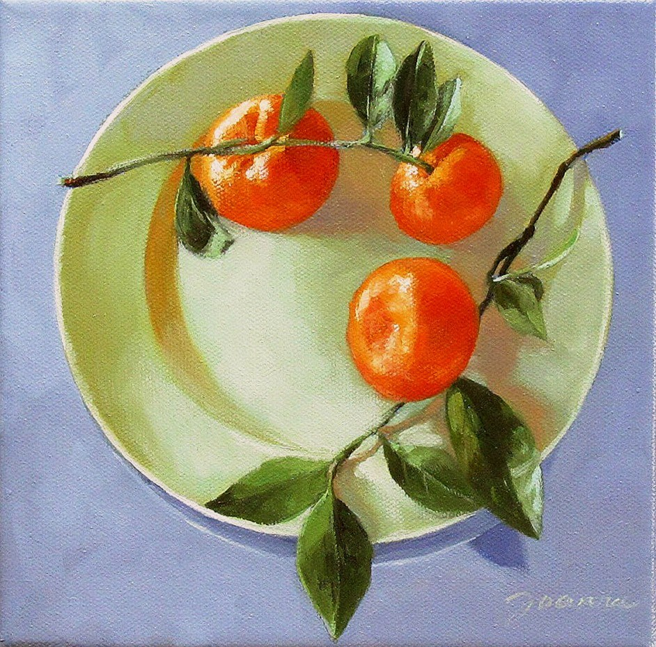 """Oranges On The Plate"" original fine art by Joanna Bingham"