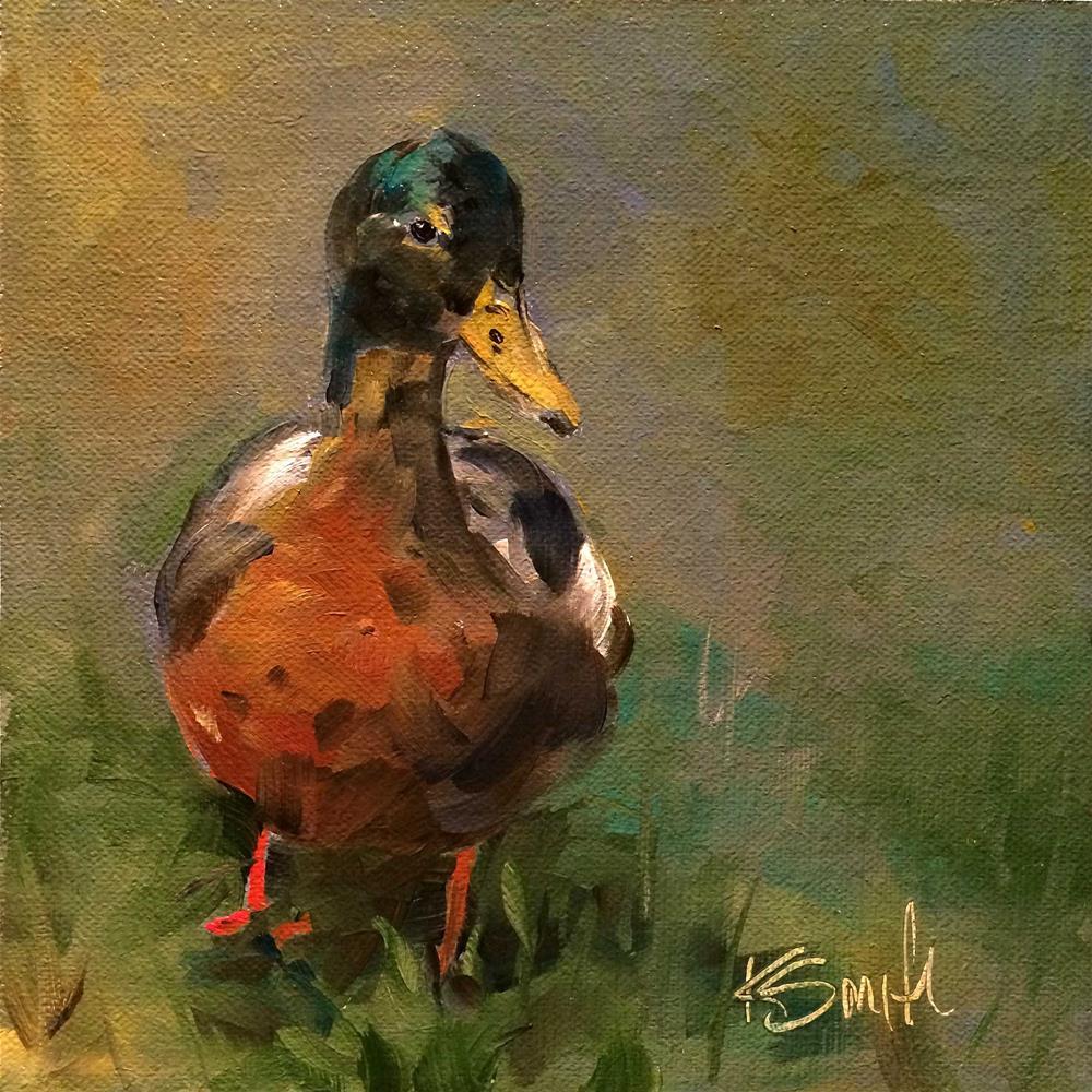 """""""Just Ducky"""" original fine art by Kim Smith"""
